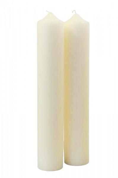Kamin Kerze 400/70, wollweiß