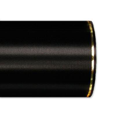 Kranzband 2501/175mm 25m Satin Goldrand, 100 schwar
