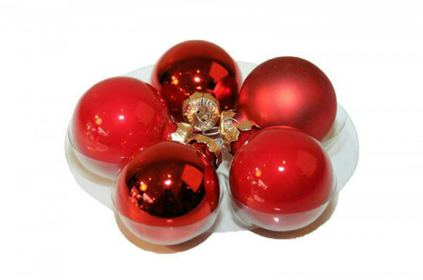 Weihnachtskugel 4cm 45St., rot