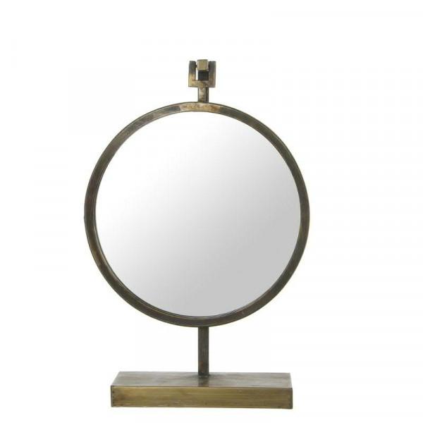 Spiegel 32x11x48,5cm a.Fuß, gold