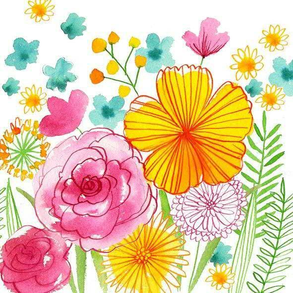 Servietten Blumen 33x33cm Bunt Servietten F S Fruhjahr Sommer