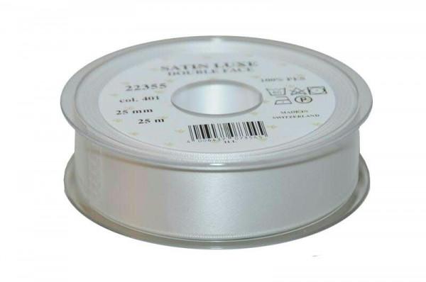 Band Satin 22355/25mm 25m, 401 weiß