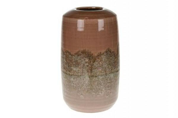 Vase Keramik 18x18x30,5cm, pink/lila