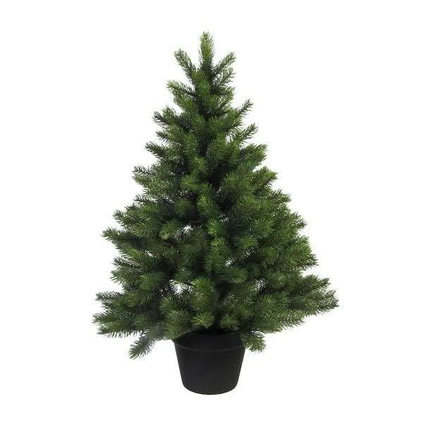 Tannenbaum 90cm im Topf 287 Tips, grün