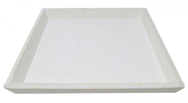 Tablett Holz 30x30x3cm, weiß