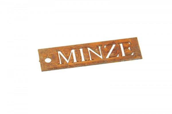 Rost Schild Minze B2cm