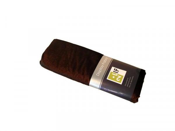 Stoff 140cmx3m Velour Velvet, dkl.braun