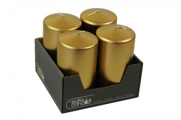 Stumpenkerzen 150/80, antikgold