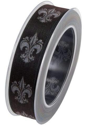 Band 119a/25mm 20m Lilie, schwarz