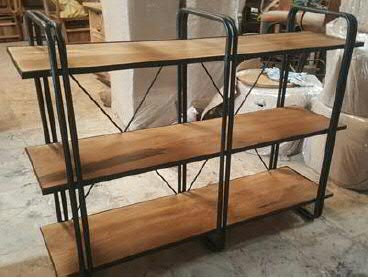 Sehr Regal Holz/Metall 150x40x135cm 3 Böden   Regale   Möbel PB03