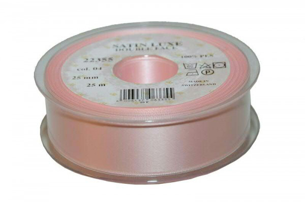 Band Satin 22355/25mm 25m, 004 h.rosa
