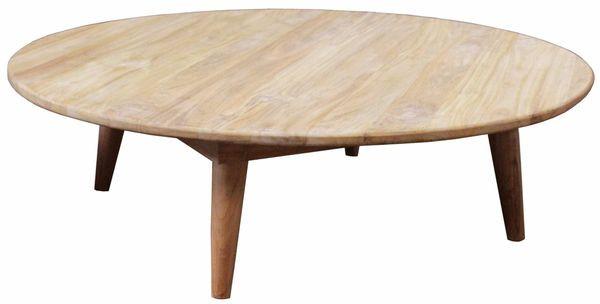 Tisch Teakholz D120H35cm, natur