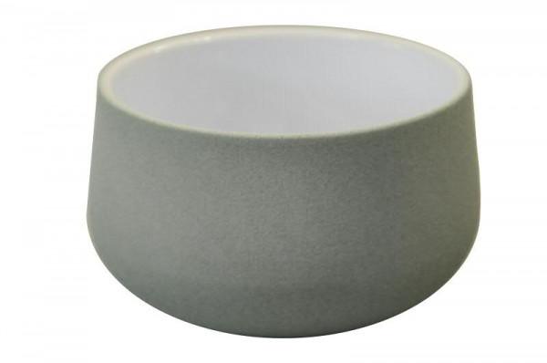 Schale Keramik 623/18cm, grün-weiß