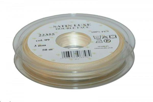 Band Satin 22355/03mm 50m, 009 creme