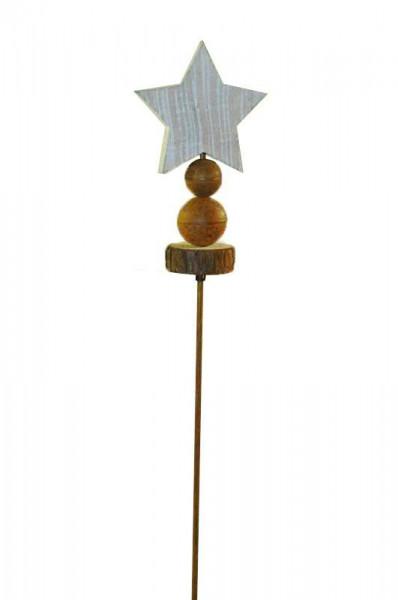 Gartenstecker Stern a.Kugel 107cm