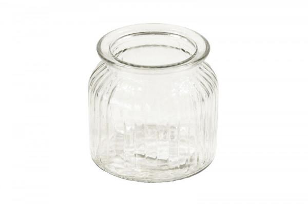 Glas Topf D10,5H10,5cm, klar