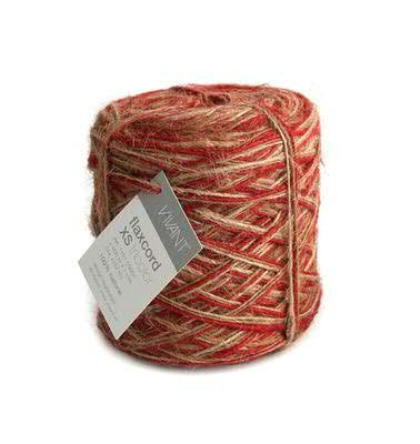 Flachsfaden 1mm 500m Tricolor, 20 rot