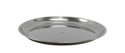 Teller Edelstahl D30cm, silber