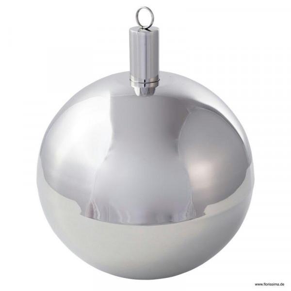 Öllampe Metall Kugel SP D23cm, silber