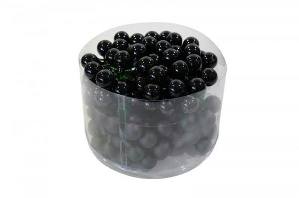 Spiegelbeeren 20mm 144St. schwarz mix, schwarz