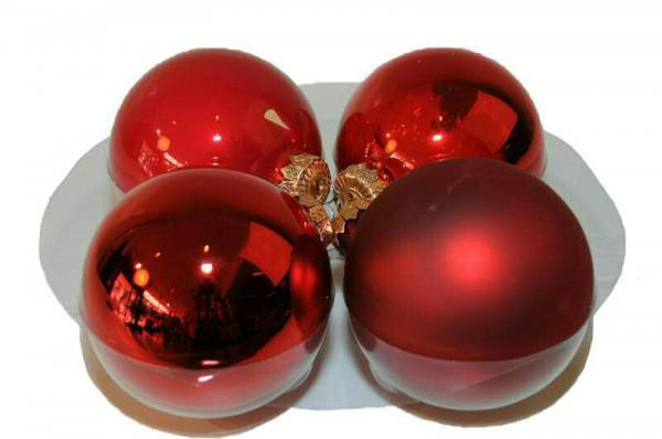 Weihnachtskugel 10cm 12St., rot