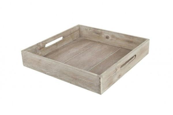 Tablett Holz 32x32x5,5cm, braun
