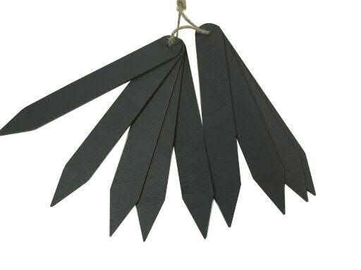 Pflanzensteckschild SP 54St.18cm Holz, schwarz