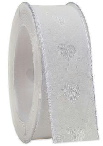 Band 152a/40mm 20m Herzen, 01 weiß