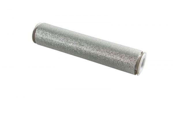 Stoff 28cmx3m Casino Glitter, silber