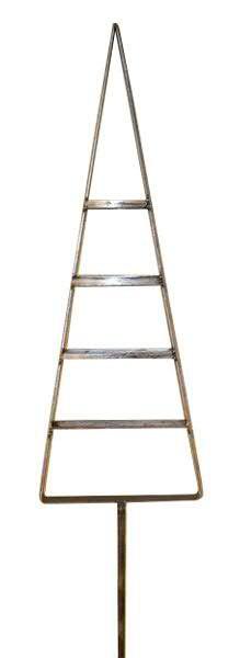 Tanne Metall 158x20x58cm am Stab, grau