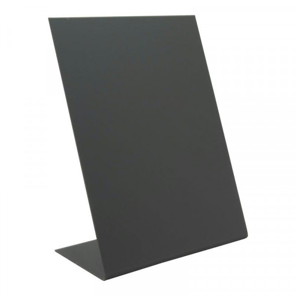 Tischkreidetafel L-Form A5 S/3 stapelb 21,5x15x8,5cm, schwarz