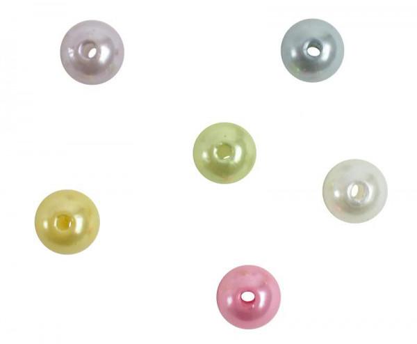 Perlen 10mm 120g Kunststoff, pastellmix