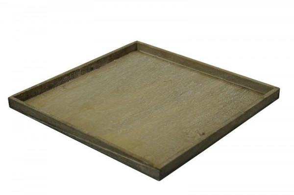 Tablett Holz 35x35x2cm Weiss Holztabletts Holz Artikel