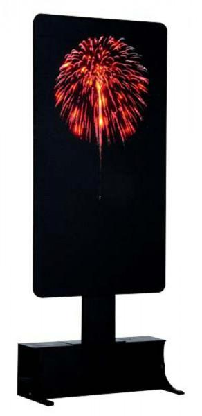 Red Fireworks LED 12,5x27cm 4,5V Beleuchtet, Batteriebetrieben