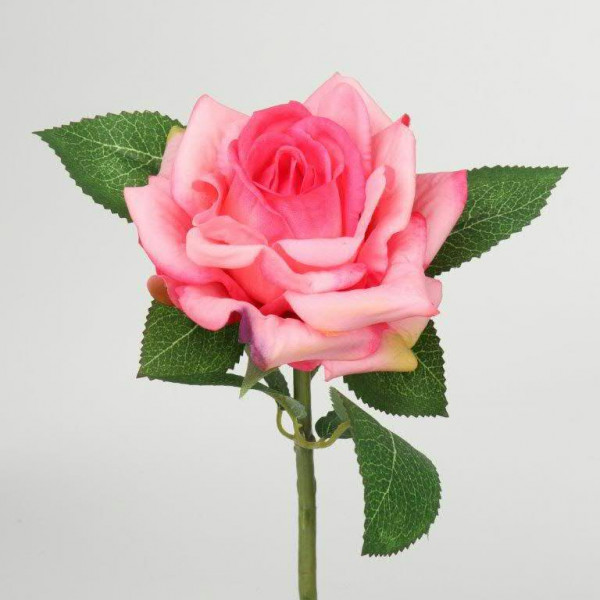 Rose 26,5cm real touch, dunkelrosa