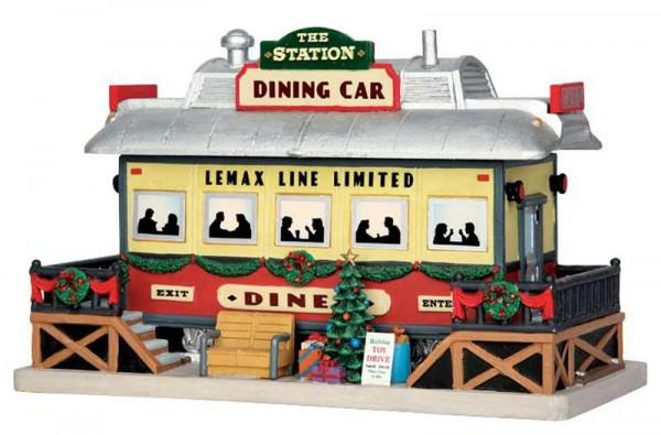 The Station Dining Car 24x15,6cm LED Beleuchtet, Batteriebetrieben