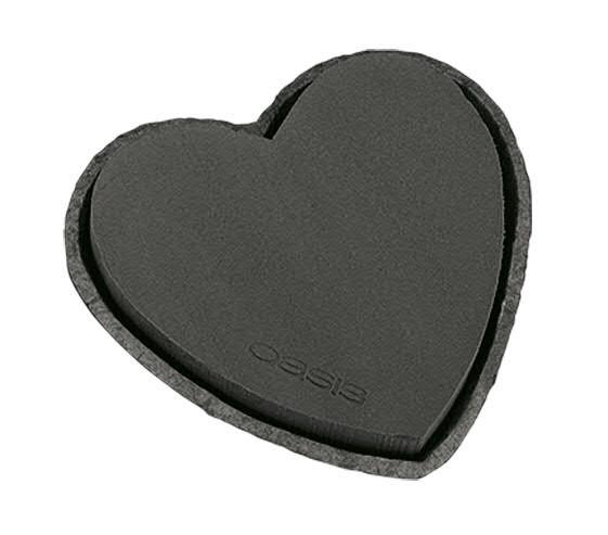 OASIS® Biolit Herz groß 33x24x5,5cm Ktn Bestpreis, schwarz
