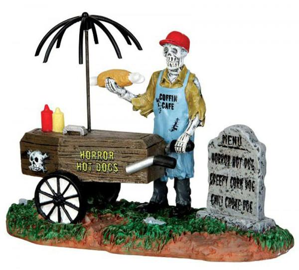 Halloween Ghoul Hot Dog Vendor 10x8cm