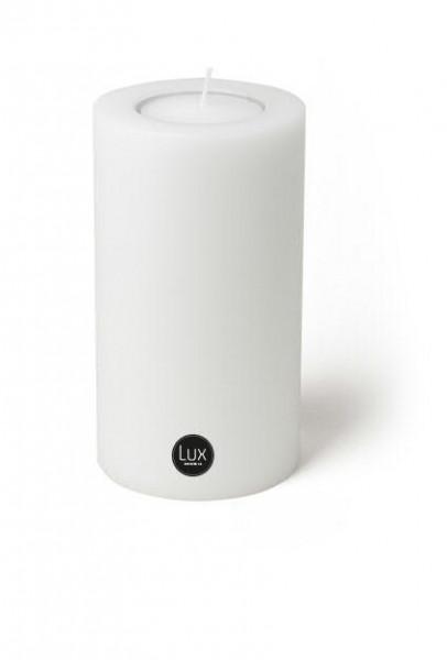 Lux Trend D12H65cm Teelichthalter für Maxi Teelicht, weiß