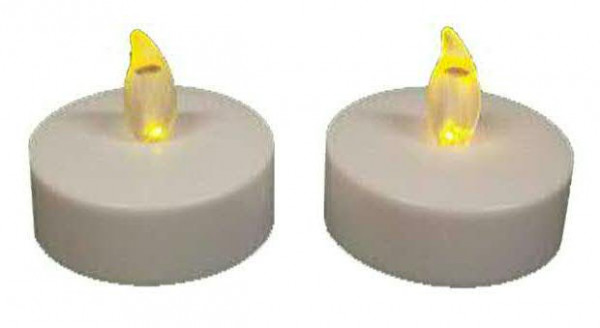 LED Teelicht Jumbo 6x4,5cm 2St., indoor ww