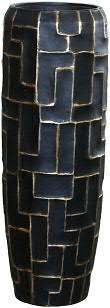 Vase FS151 H98cm m.E., schw/gold