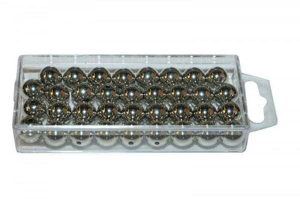Perlen 14mm 35St., met.silber