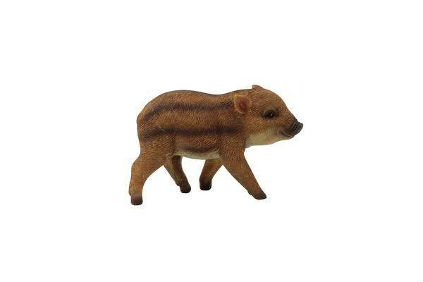 Wildschwein Poly 12,8x4,9x8cm stehend, natur