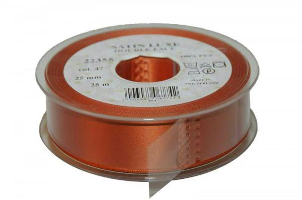 Band Satin 22355/25mm 25m, 047 kupfer