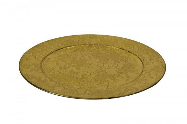 Teller Kunststoff D33cm, goldschwar