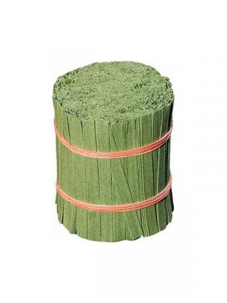 Bindestr.Papier 15cm 2-Draht grün, 1.000St.   Bindematerial ...
