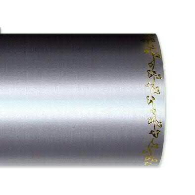 Kranzband 2505/150mm 25m Satin Efeurand gold, 721 grau