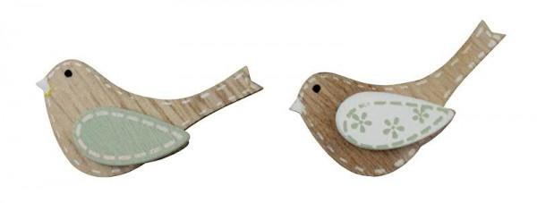 Vogel Holz vogel holz 48st 4 5x2 5cm mint natur vögel figuren tiere