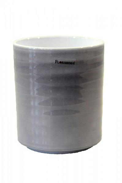 Kübel Keramik 943/15cm Orchidee, Lasur grau