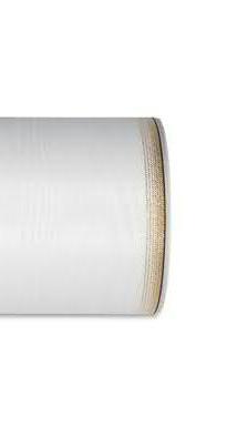 Kranzband 6693/100mm 25m Moire Goldrand, 611 weiß